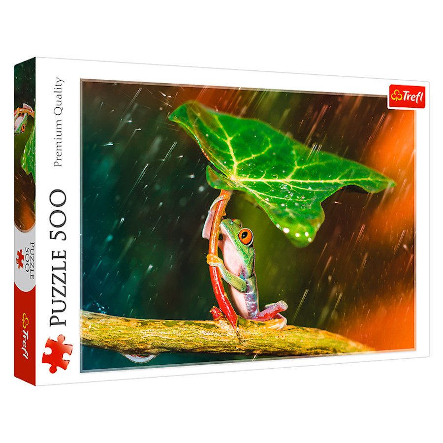 """TF Puzzle - """"500"""" - """"Green umbrella"""""""