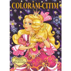 Prințese din Povești. Colorăm-Citim