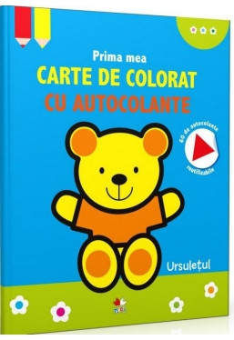 Prima mea carte de colorat cu autocolante. Ursulețul