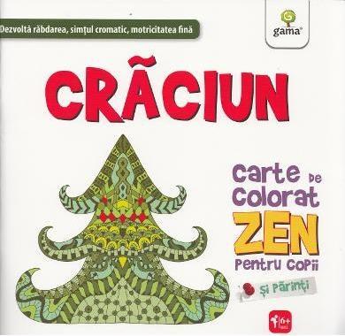 Crăciun. Carte de colorat Zen pentru copii și părinți