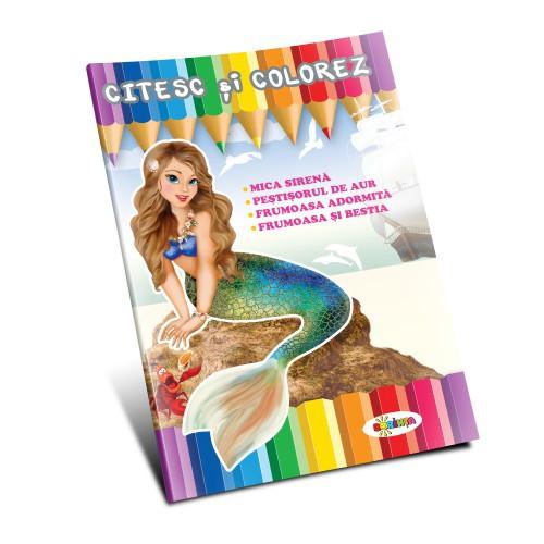 Citesc și colorez - Mica Sirenă