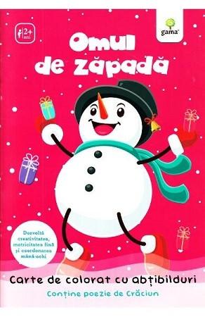 Omul de Zăpadă. Carte de colorat cu abțibilduri