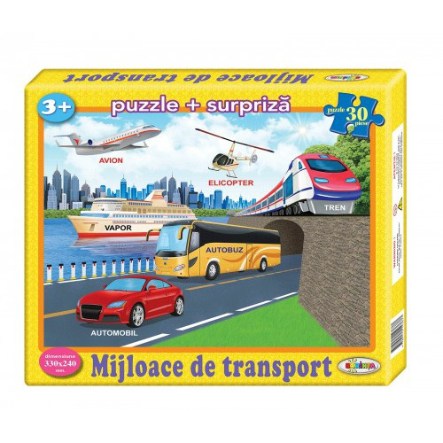 Puzzle Mijloace de transport 30ps