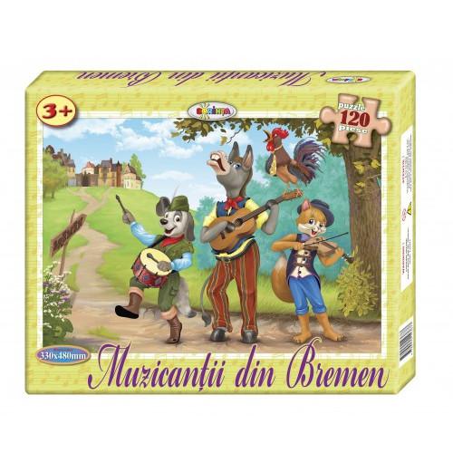 Puzzle Muzicanții din Bremen 120ps