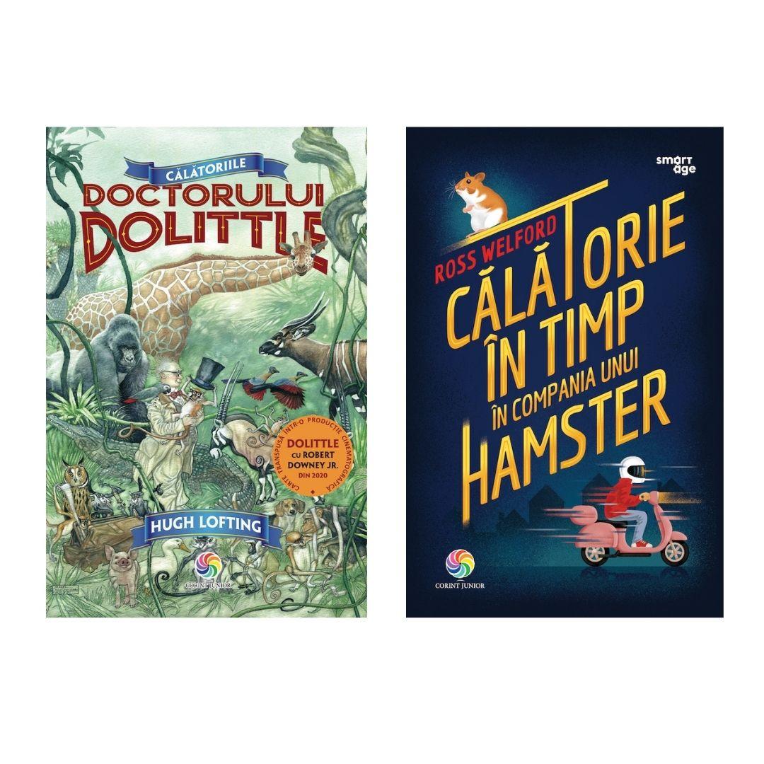 """Pachet Promoțional """"Călătoriile doctorului Dolittle"""" și """"Călătorie în timp în compania unui hamster"""""""