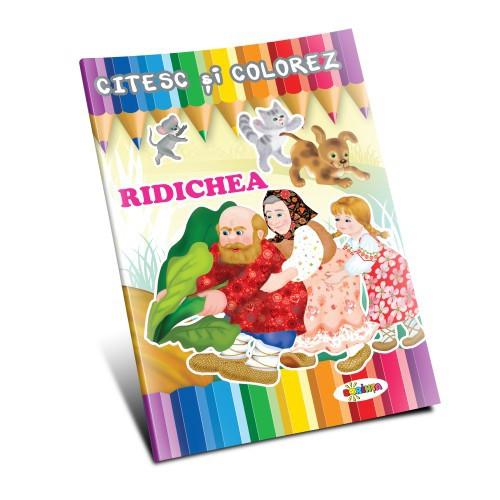 Citesc și colorez - Ridichea
