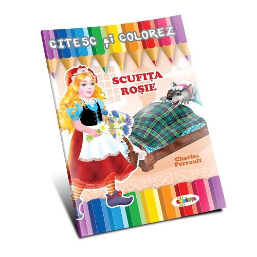 Citesc și colorez - Scufița Roșie