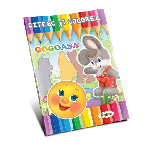 Citesc și colorez - Gogoașa
