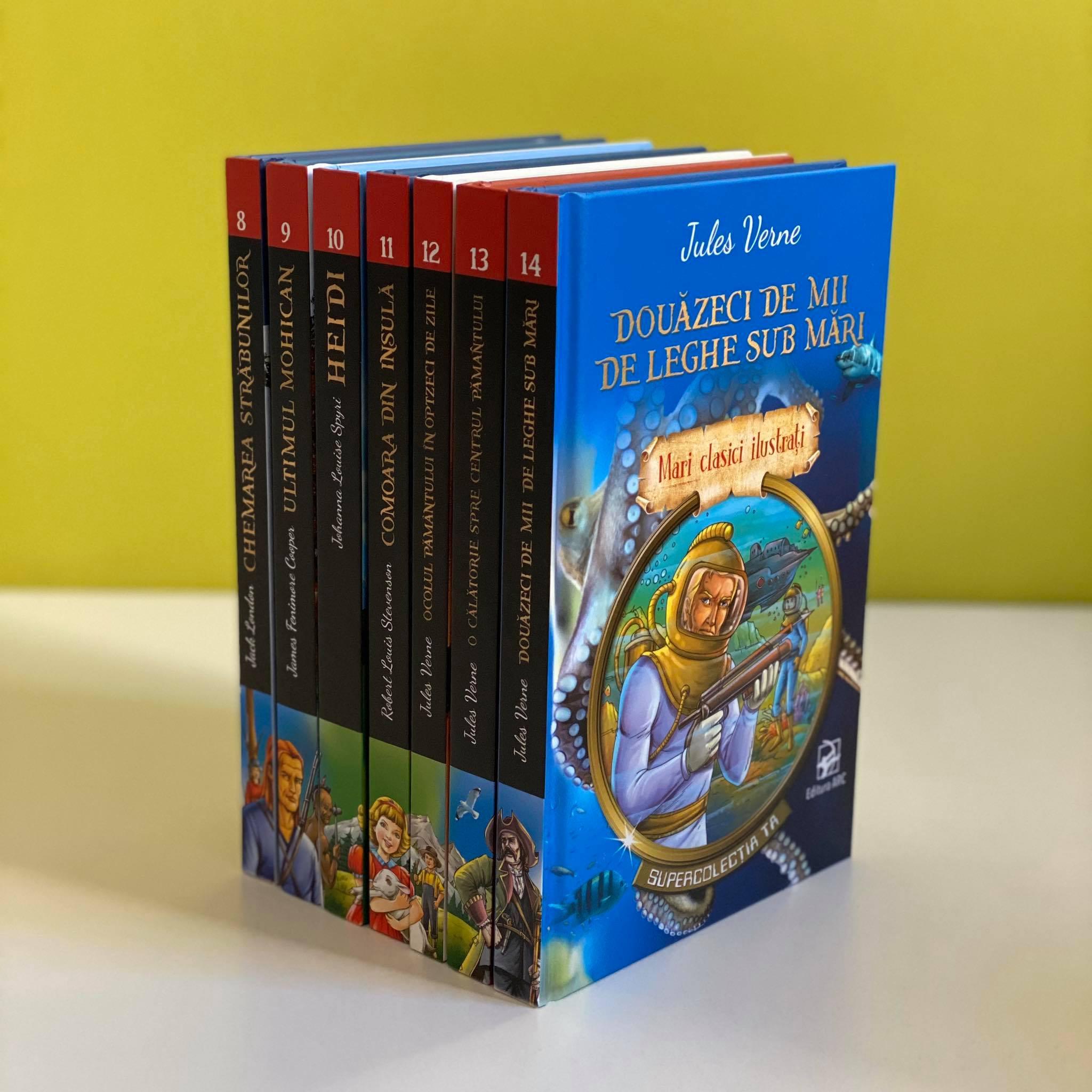 Mari Clasici Ilustrați. Supercolecția ta. Set 7 Cărți. Volumele 8-14