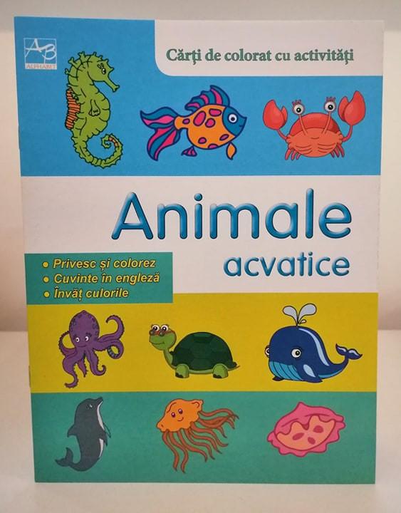 Animale acvatice Cărți de colorat cu activități