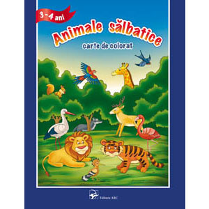 Animale Sălbatice. Carte de Colorat