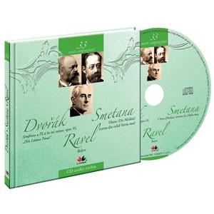 Antonin Dvorak, Bedrich Smetana, Maurice Ravel, Mari compozitori, Vol. 33 [Carte + Audio CD]