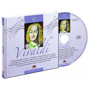 Antonio Lucio Vivaldi, Mari compozitori, Vol. 12 [Carte + Audio CD]