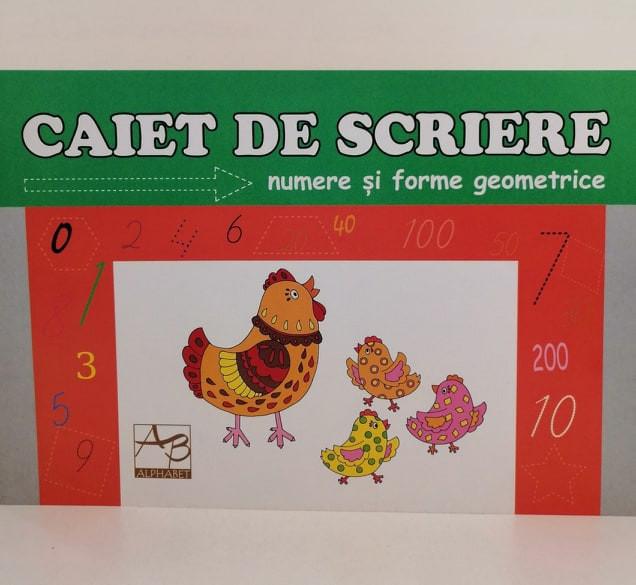 Caiet de scriere Numere și forme geometrice