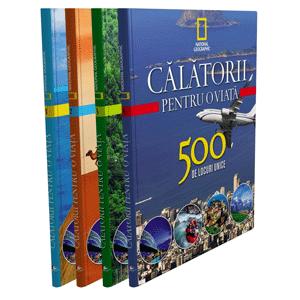 """Colecția """"Călătorii pentru o Viață. 500 de Locuri Unice"""" în 4 Volume [Pachet Promoțional]"""
