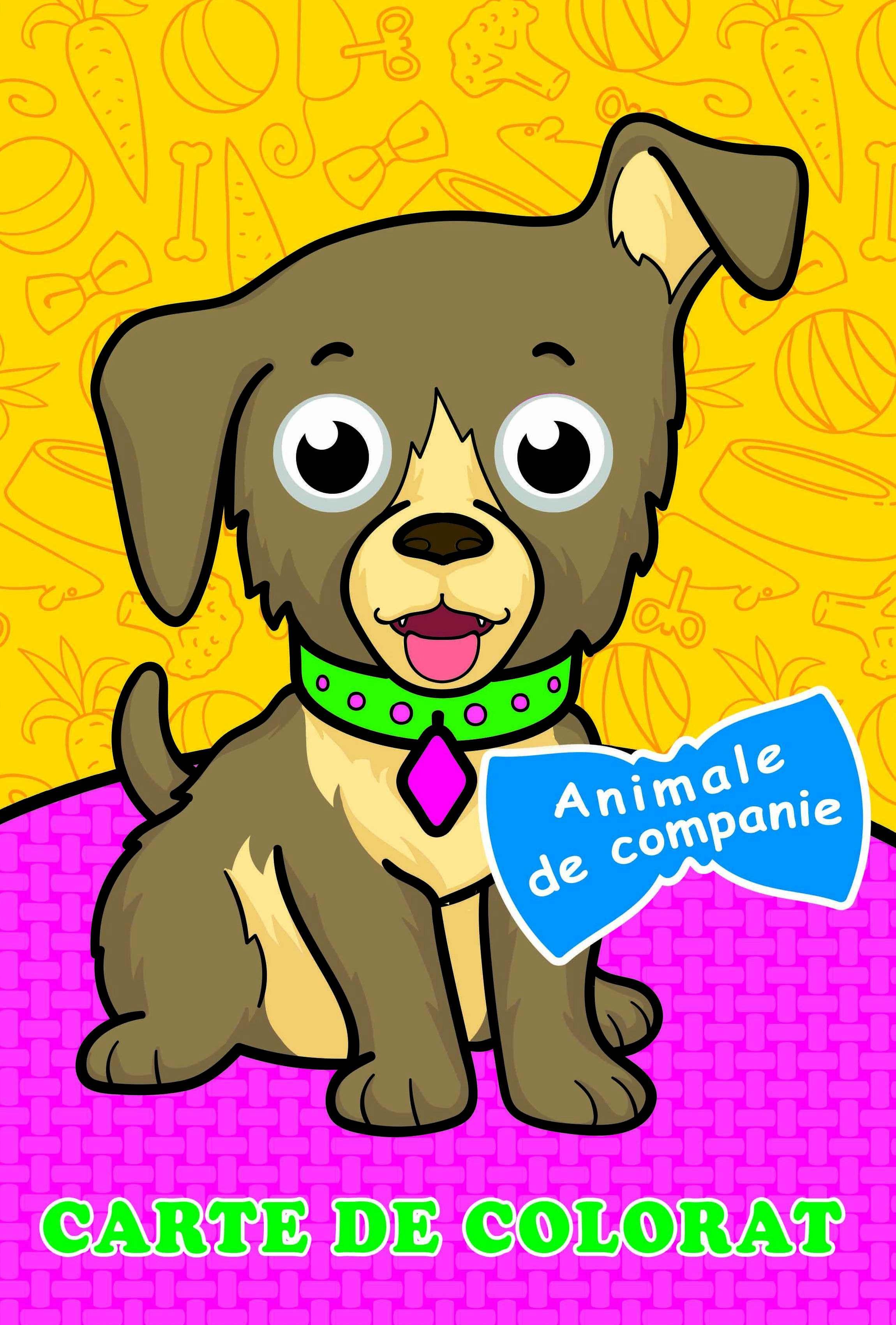Carte de colorat Animale de companie (Cu ochișori)