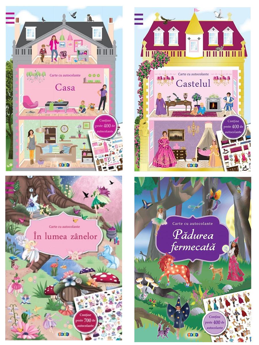 Colecția de 4 Super-Cărți cu Autocolante