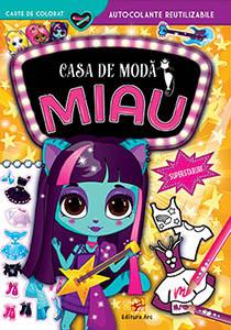 Casa de modă MIAU. Superstaruri. Carte de Colorat cu Autocolante Reutilizabile (3-5 ani)