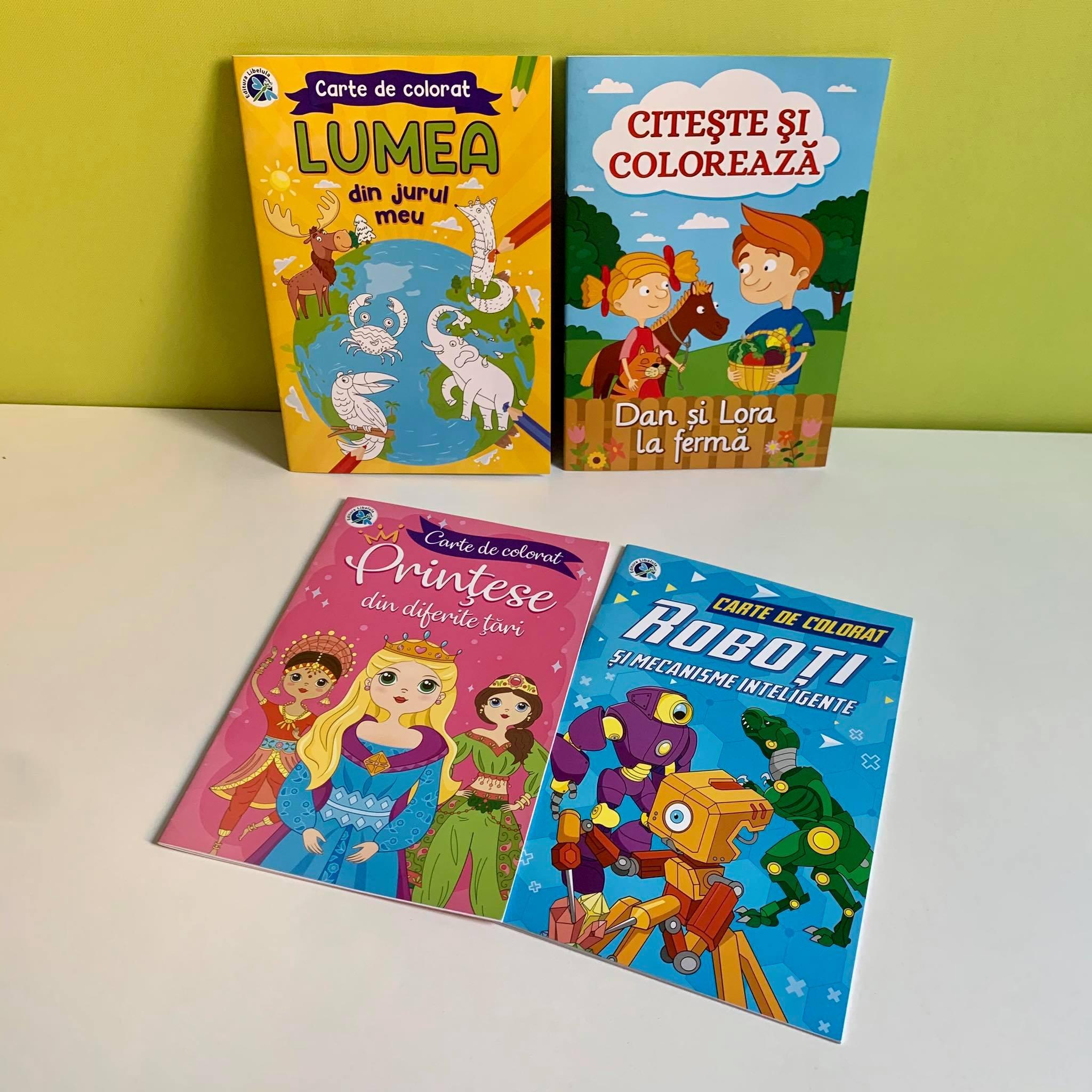 Colecția de 4 Super-Cărți Citește și Colorează