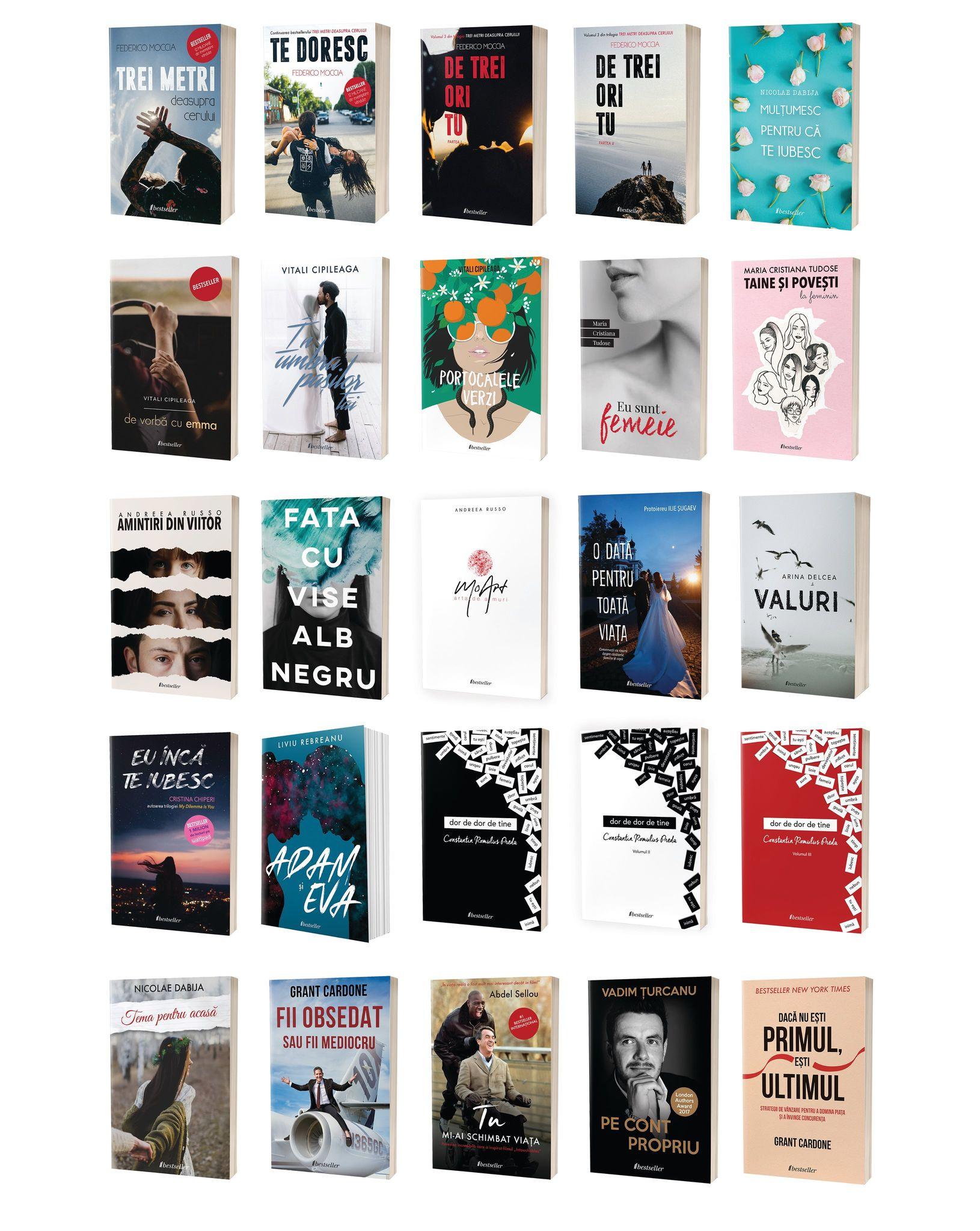 Colecția Bestseller de 25 de cărți