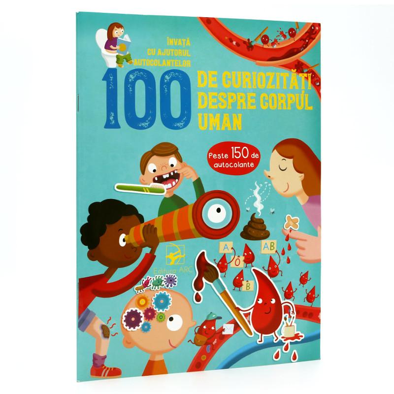 100 de Curiozități despre Corpul Uman. Învață cu Ajutorul Autocolantelor