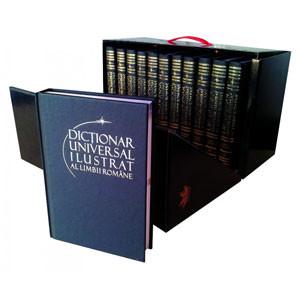 """Cutie Cadou. Colecția """"Dicționar Universal Ilustrat al Limbii Române"""" în 12 Volume [Pachet Promoțional]"""