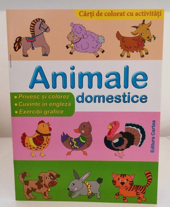 Animale domestice Cărți de colorat cu activități
