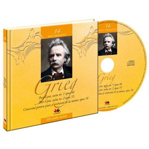 Edvard Grieg, Mari compozitori, Vol. 14 [Carte + Audio CD]