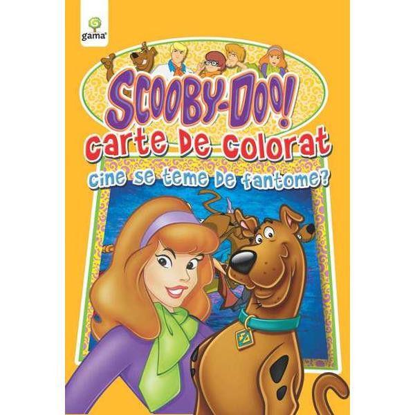 Scooby-Doo! Cine se teme de fantome? Carte de colorat