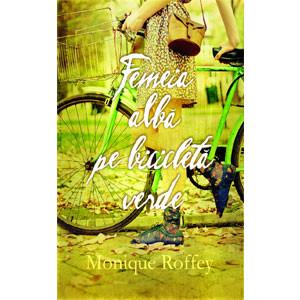 Femeie Albă pe Bicicleta Verde