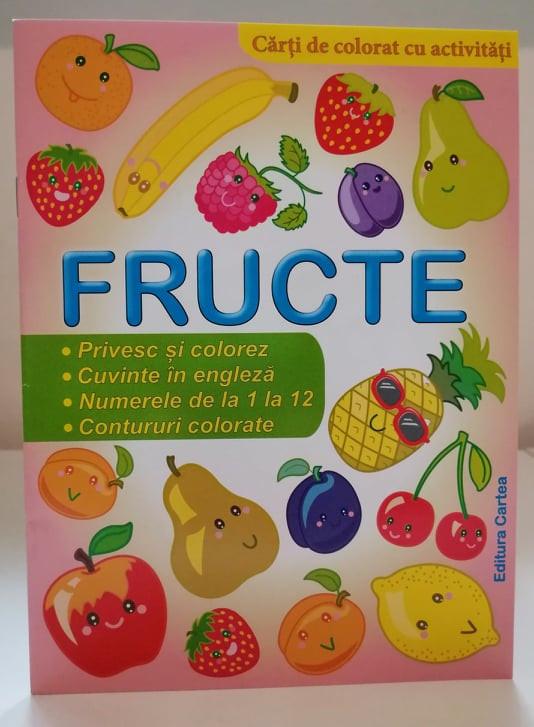 Fructe Cărți de colorat cu activități