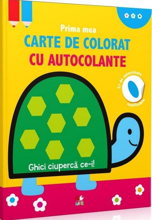 Prima mea carte de colorat cu autocolante. Ghici ciupercă ce-i! 2+