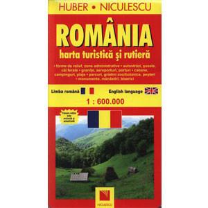 Harta României - Turistică și Rutieră
