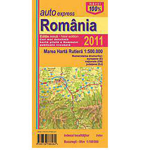 Harta Rutieră Pliata a României