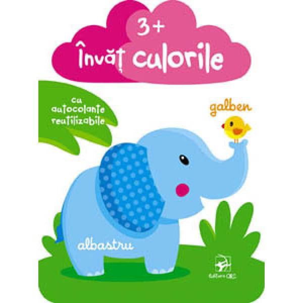 Învăț culorile 3+ cu autocolante ilustrative