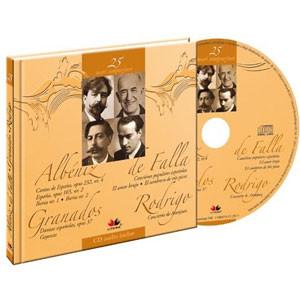 Isaac Albeniz, Manuel de Falla, Enrique Granados, Joaquin Rodrigo, Mari compozitori, Vol. 25 [Carte + Audio CD]
