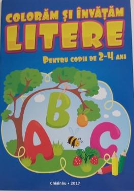 Colorăm și învățăm litere Pentru copii de 2-4 ani