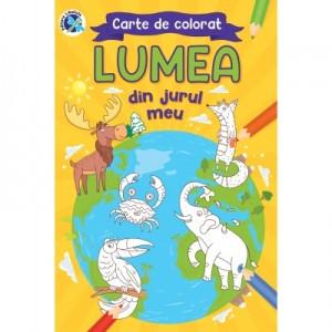 Carte de colorat Lumea din jurul meu