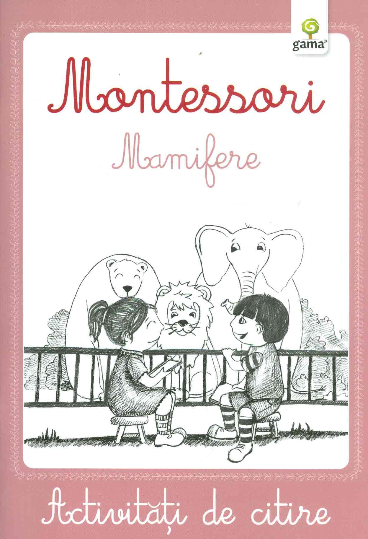 Montessori. Mamifere- Activitati de citire
