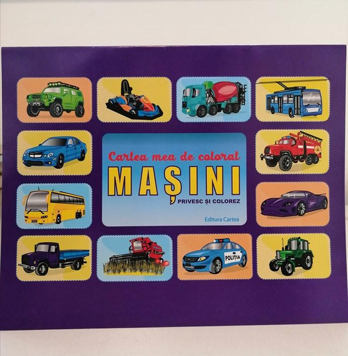 Mașini Privesc și Colorez, Cartea mea de colorat