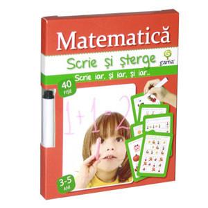 Scrie și Șterge - Matematica 3-5 ani