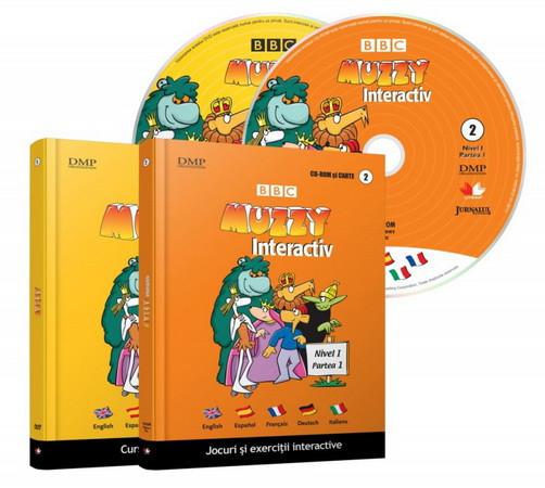 Muzzy. Curs multilingvistic pentru copii (Carte, DVD și CD). Vol. 01 și 02