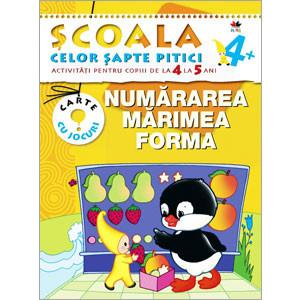 Numărarea, mărime, forma. Activități pentru copiii de la 4 la 5 ani