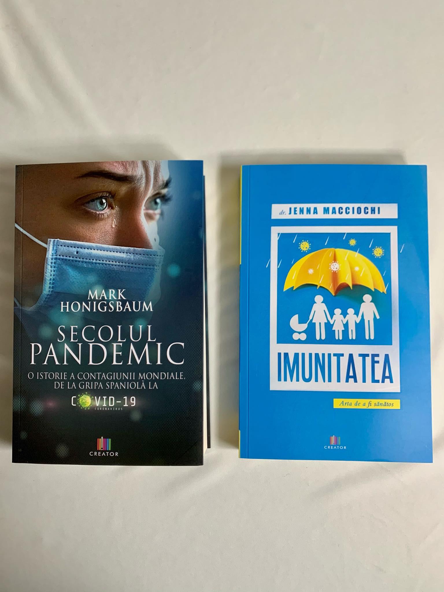 """Pachet promoțional """"Secolul pandemic"""" și  """"Imunitatea - Arta de a fi sănătos"""""""