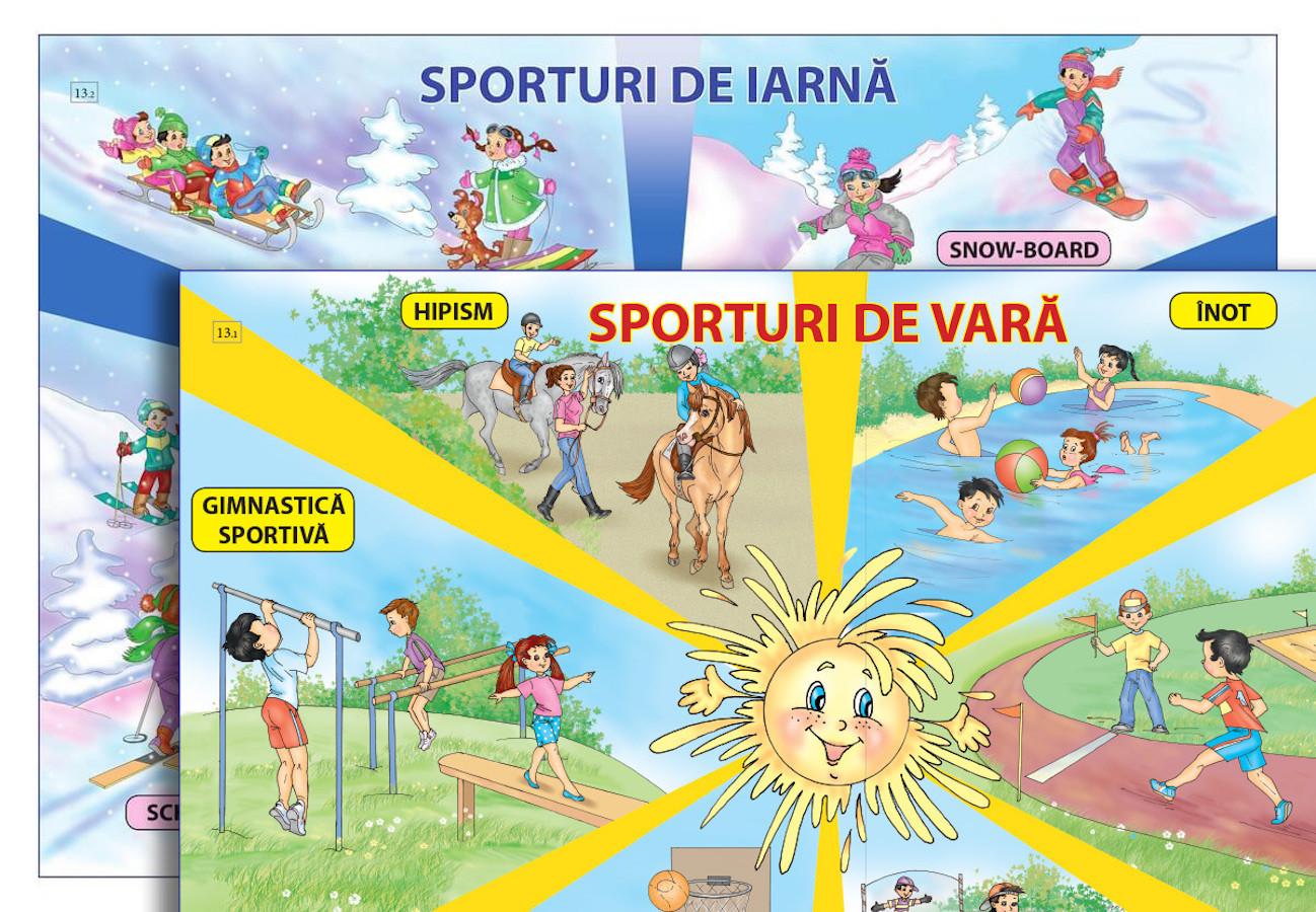 Planșă. Sporturi de vară + Sporturi de iarnă