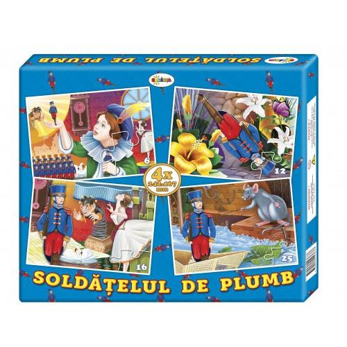 Puzzle Soldățelul de plumb (4 imagini în cutie)