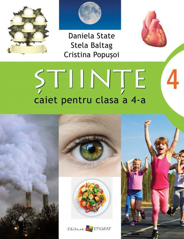 Științe - caiet pentru clasa a 4-a