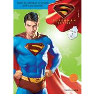 Superman revine! Carte de colorat cu jocuri 1