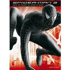 Spider-Man - Carte de colorat cu jocuri și mască
