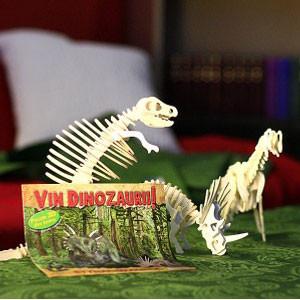 Colecția 3D Puzzle - Vin Dinozaurii în 10 Volume